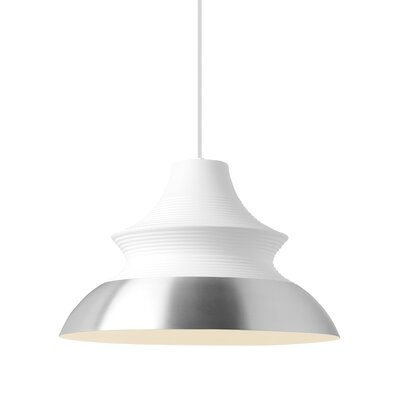 Togan Grande 1-Light Mini Pendant Finish: Aluminum