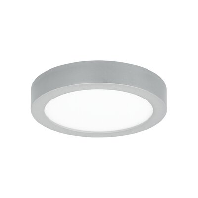 Tenur 1-Light Flush Mount Finish: Silver, Voltage: 120