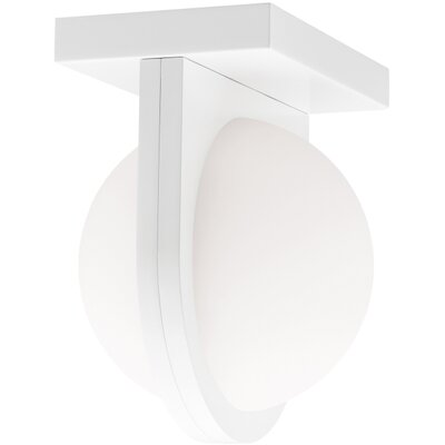 Capture 1-Light Flush Mount Voltage: 120, Finish: White