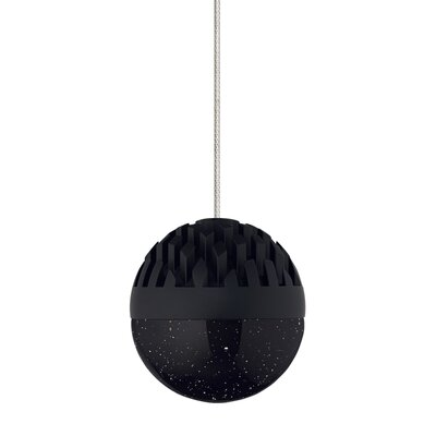 Macleod 1-Light Mini Pendant Finish: Rubberized Black, Shade Color: Cast Smoke