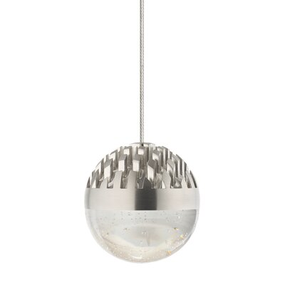 Macleod 1-Light Mini Pendant Finish: Satin Nickel, Shade Color: Cast Clear