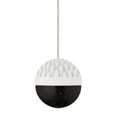 Sphere 1-Light Mini Pendant Finish: Rubberized White, Shade Color: Cast Smoke