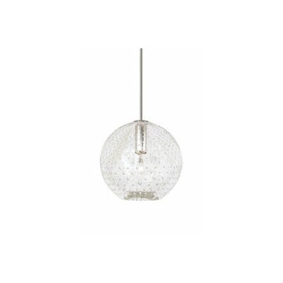 Bulle 1-Light Globe Pendant Color: Clear, Finish: Satin Nickel, Mounting: Pendant with Canopy/Transformer