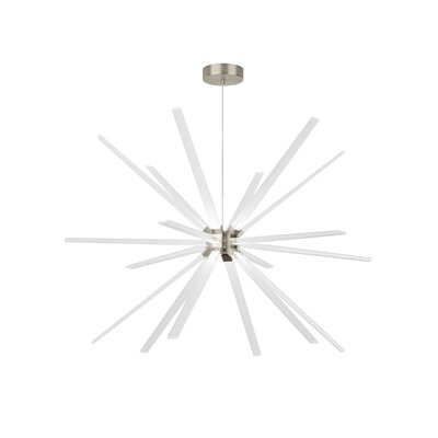 Photon 18-Light LED Sputnik Chandelier Finish: Satin Nickel