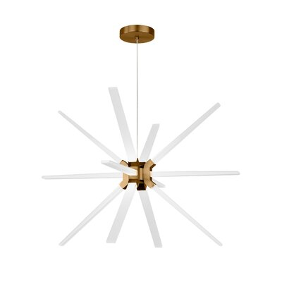 Maderia 12-Light LED Sputnik Chandelier Finish: Aged Brass