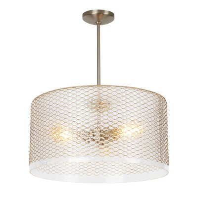 Lania 3-Light Drum Pendant