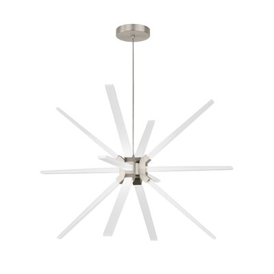 Maderia 12-Light LED Sputnik Chandelier Finish: Satin Nickel