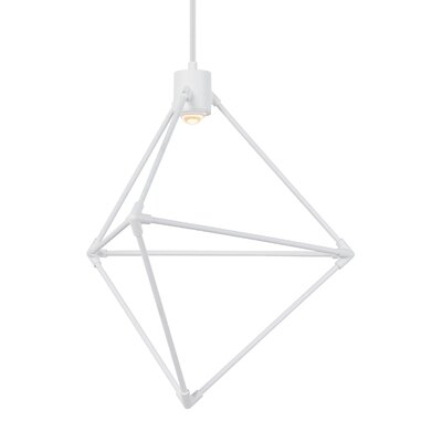 Candora 1-Light LED Geometric Pendant Finish: White