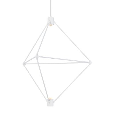 Crosslin 2-Light LED Geometric Pendant Finish: White, Size: 40 H x 34.3 W x 34.3 L