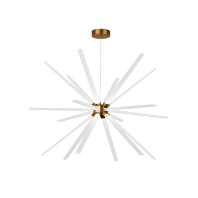 Photon 18-Light LED Sputnik Chandelier Finish: Aged Brass