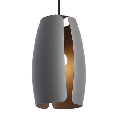 Lifo 1-Light Mini Pendant Finish: Gray