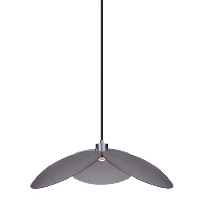 Mccully 1-Light Pendant Shade Color: Smoke