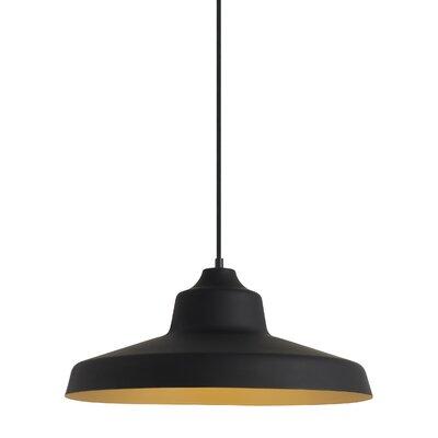 Chamblee 1-Light Mini Pendant Finish: Black/Gold