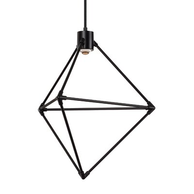 Crosslin 1-Light LED Geometric Pendant Finish: Black