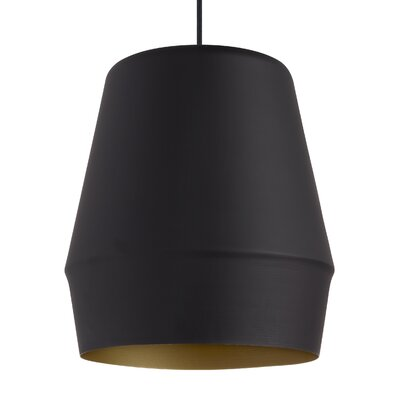 Allea 1-Light Mini Pendant Finish: Black/Gold