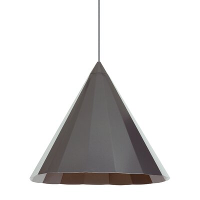 Crossland 1-Light Mini Pendant Finish: Gunmetal