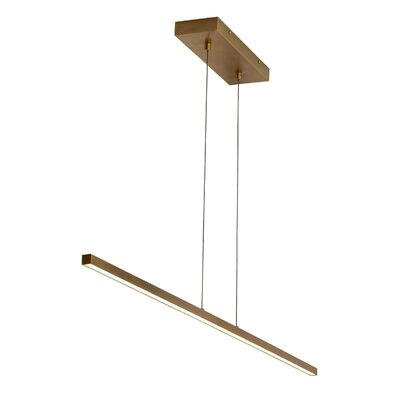 Crossman Linear 1-Light Geometric Pendant Finish: Aged Brass