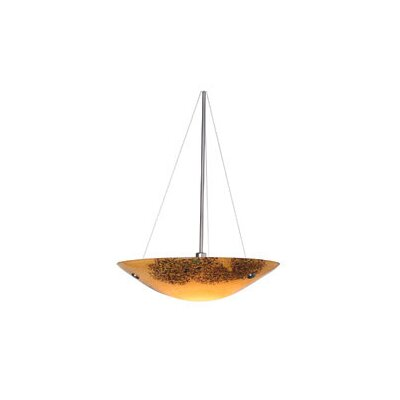 Veneto 3-Light Bowl Pendant Shade Color: Mocha, Finish: Bronze