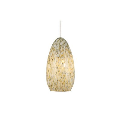 Banja 1-Light Mini Pendant Finish: Satin Nickel, Shade Color: Ivory Opaque, Mounting Type: LED - Fusion Jack Mini Pendant