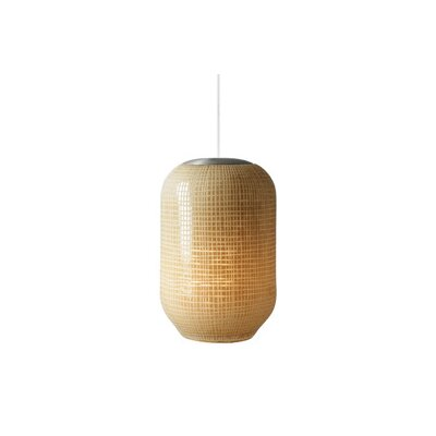 Mini-Aiko 1-Light Mini Pendant Shade Color: Ivory, Finish: Satin Nickel, Mounting Type: Fusion Jack Pendant