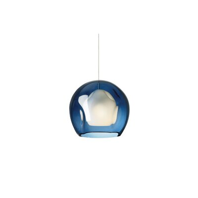 Oswaldo 1-Light Mini Pendant Finish: Satin Nickel, Shade Color: Steel Blue, Mounting Type: Monopoint Pendant