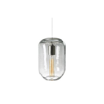 1-Light Pendant Shade Color: Clear, Finish: Satin Nickel
