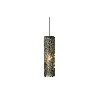 Macomber 1-Light Mini Pendant Finish: Satin Nickel, Shade Color: Amber, Mounting Type: Fusion Jack Pendant