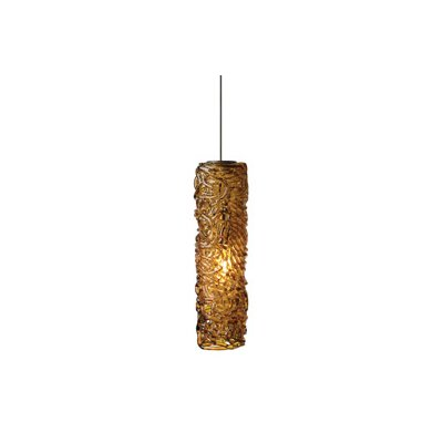 Mini-Isis 1-Light Mini Pendant Shade Color: Amber, Finish: Bronze, Mounting Type: LED - Fusion Jack Pendant