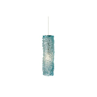 Macomber 1-Light Mini Pendant Finish: Satin Nickel, Shade Color: Aqua, Mounting Type: LED - Fusion Jack Pendant