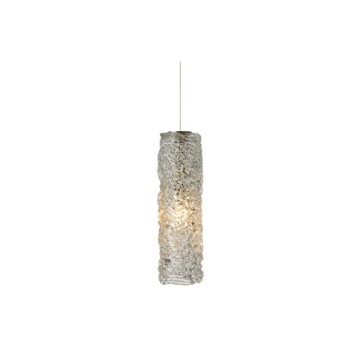 Mini-Isis 1-Light Mini Pendant Finish: Satin Nickel, Shade Color: Clear, Mounting Type: LED - Fusion Jack Pendant
