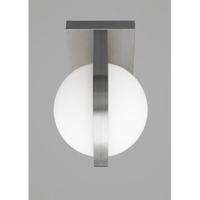 Cacia 1-Light Flush Mount Finish: Satin Nickel, Voltage: 120