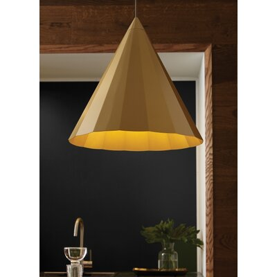 Crossland 1-Light Mini Pendant Finish: Gold