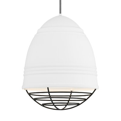 Else 3-Light Geometric Pendant Finish: Black, Shade Color: Rubberized White/White Interior