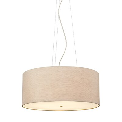 Hancock 4-Light Drum Pendant Finish: Satin Nickel