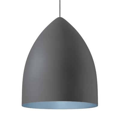 1-Light Inverted Pendant Shade Color: Rubberized Gray/Blue