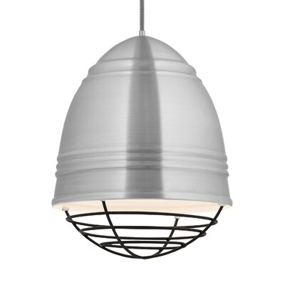Else 3-Light Geometric Pendant Finish: Black, Shade Color: Brushed Aluminum/White Interior