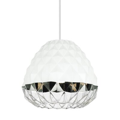 1-Light Mini Pendant Shade Color: White/Clear