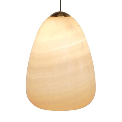 Barnstable Onyx Teardrop 1-Light Mini Pendant Base Color: Bronze