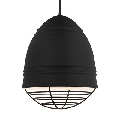 Else 3-Light Geometric Pendant Finish: Black, Shade Color: Rubberized Black/White Interior