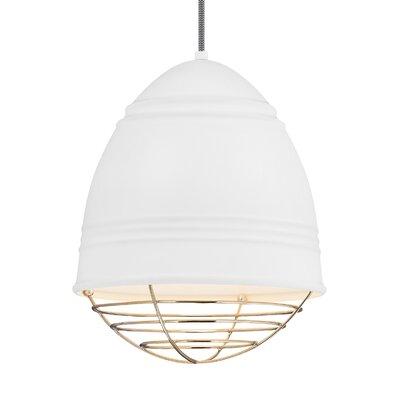 Else 1-Light Mini Pendant Finish: Polished Nickel, Shade Color: Rubberized White/White Interior