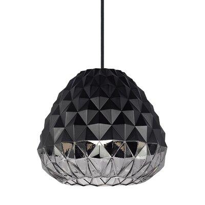 1-Light Mini Pendant Shade Color: Black/Smoke
