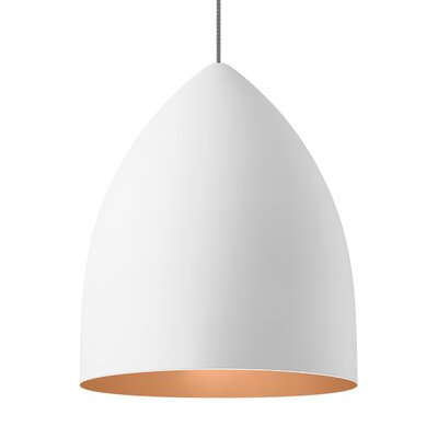 1-Light Inverted Pendant Shade Color: Rubberized White/Copper
