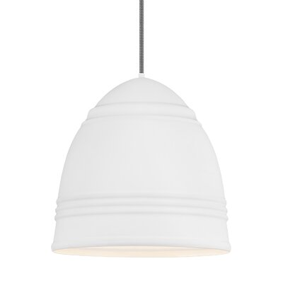 Else 3-Light Geometric Pendant Shade Color: Rubberized White/White Interior