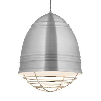 Else 3-Light Geometric Pendant Finish: Polished Nickel, Shade Color: Brushed Aluminum/White Interior