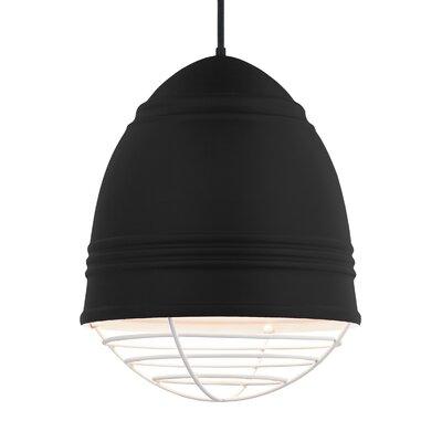 Else 3-Light Geometric Pendant Finish: White, Shade Color: Rubberized Black/White Interior