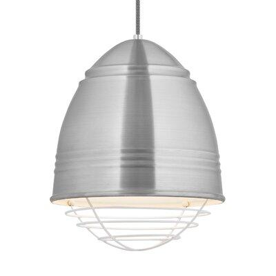 Else 1-Light Mini Pendant Finish: White, Shade Color: Brushed Aluminum/White Interior