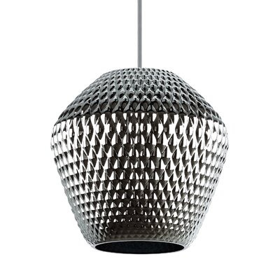 1-Light Mini Pendant Shade Color: Silver/Champagne