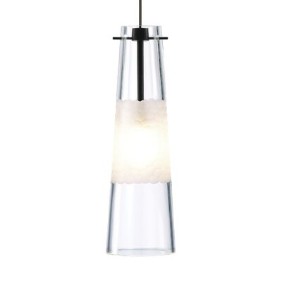 1-Light Mini Pendant Finish: Bronze, Shade Color: Clear