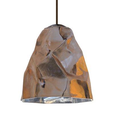 1-Light Mini Pendant Finish: Bronze, Shade Color: Copper