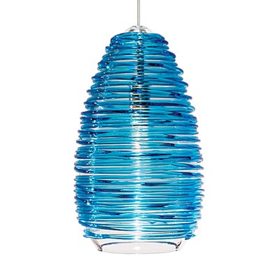 Dutcher Vortex 1-Light Mini Pendant Shade Color: Blue